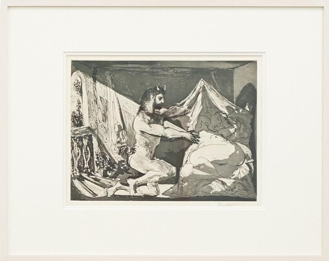 PABLO PICASSO 97. Faune dévoilant une dormeuse [Faun revealing a sleeping woman], 12.6.1936
