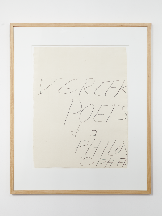Cy Twombly »Five Greek Poets and a Philosopher A« 1978