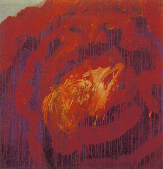 Cy Twombly Painting Detail (Roses), 2008